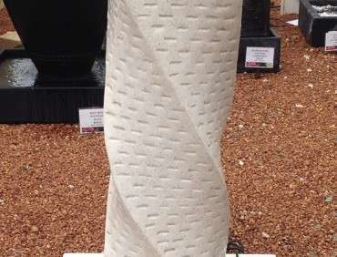 FIA009 Terrazzo Twist Water Feature White