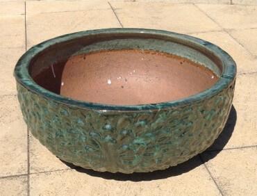 ST211559 Moss Green Daisy Bowl
