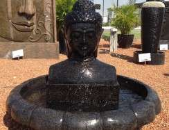 FIA1112 Black Buddha Head Flower base