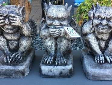 See Hear Speak No Evil Gargoyles
