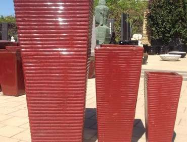 Red Ribbed Entrance Pots TTP3106