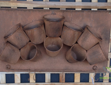 74410PLN Rusty Pot Wallhanger