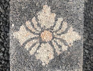 BSS6 Black Creme Diamond Flower